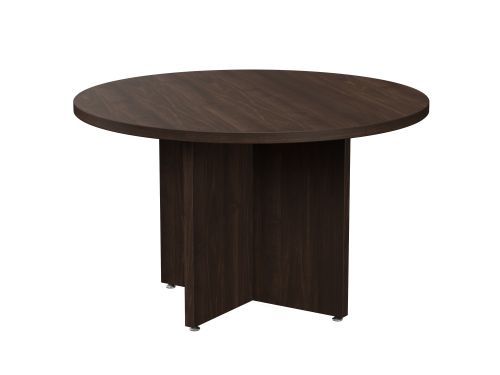 Fermo Round 1200mm Dia Table With Cross Base - Dark Walnut