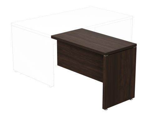 Fermo Return Desk Left/Right 1000 x 550mm - Dark Walnut