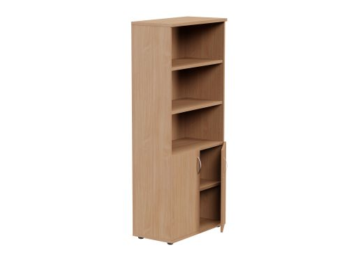 Kito 1850mm Part Open Storage - 2 Closed / 3 Open - Beech