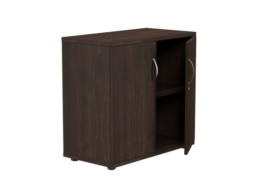 Kito Closed Storage 770mm - 2 Level - Dark Walnut