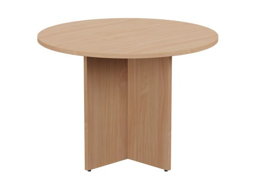 Kito Meeting Table Round Panel Base 1000mm Dia - Beech