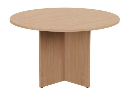 Kito Meeting Table Round Panel Base 1200mm Dia - Beech