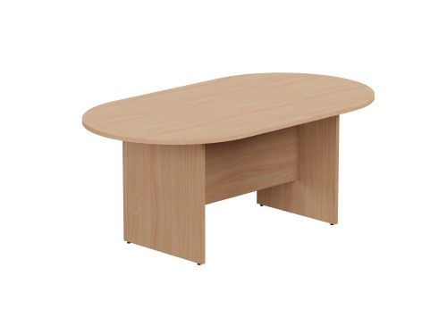 Kito Meeting Table Oval Panel Base 1800w x 1000d - Beech