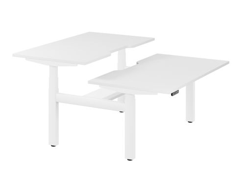 Leap Bench Desk Top With Scallop, 1400 x 800mm - White / White Frame