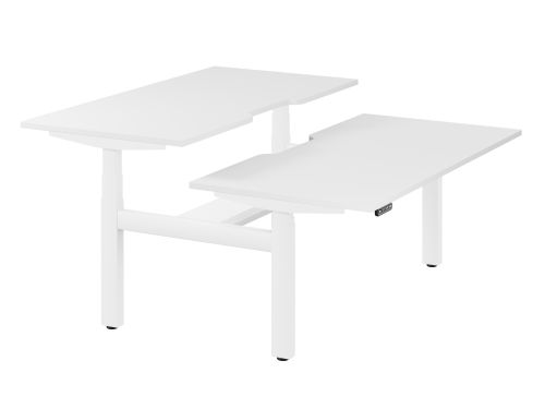 Leap Bench Desk Top With Scallop, 1600 x 800mm - White / White Frame