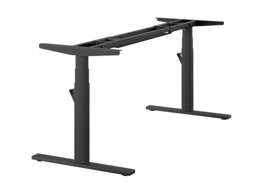 Leap Single 3 Stage Electric Adjust Frame 80/50 Profile 595-1245mm w/ Handset & Cable Tray - Black