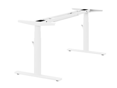 Leap Single 3 Stage Electric Adjust Frame 80/50 Profile 595-1245mm w/ Handset & Cable Tray - White