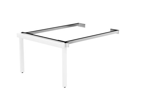 Switch 2 Person Bench Add-On Scallop Top 1400 x 800 - White Frame / White Top
