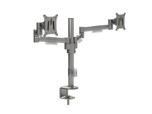 M200 Double Monitor Arms - Silver