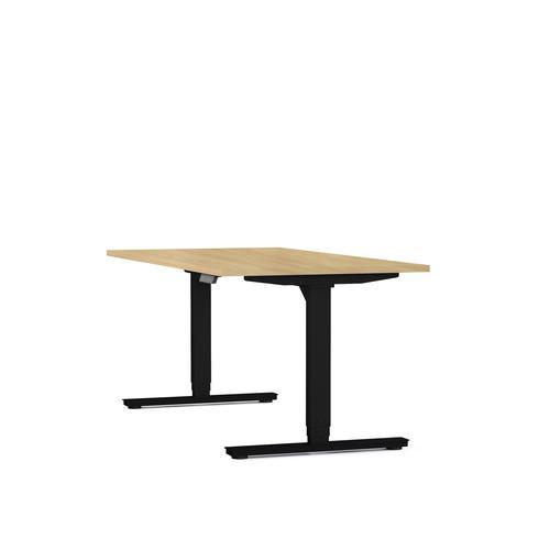 Axel standing desk W1200 x D800 oak/black