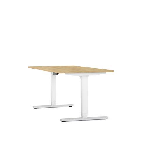 Axel standing desk W1200 x D800 oak/white