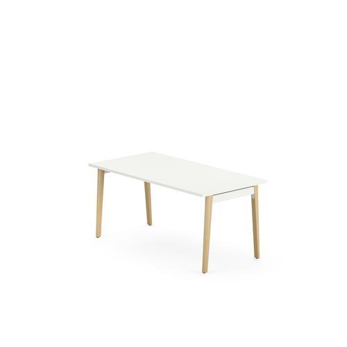 Robin Snow White Melamine Meeting Table H1045xW1600xD800mm