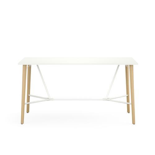 Robin snow white melamine meeting table H. 1045 x W. 2000 x D. 1000 mm