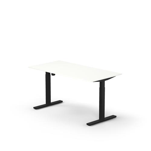 Lutz rectangular desk W. 1200 x D. 800 x Thk. 19 mm snow white