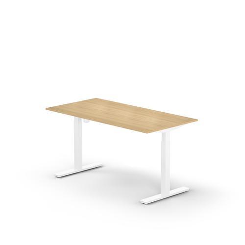 Lutz rectangular desk W. 1200 x D. 800 x Thk. 19 mm light oak