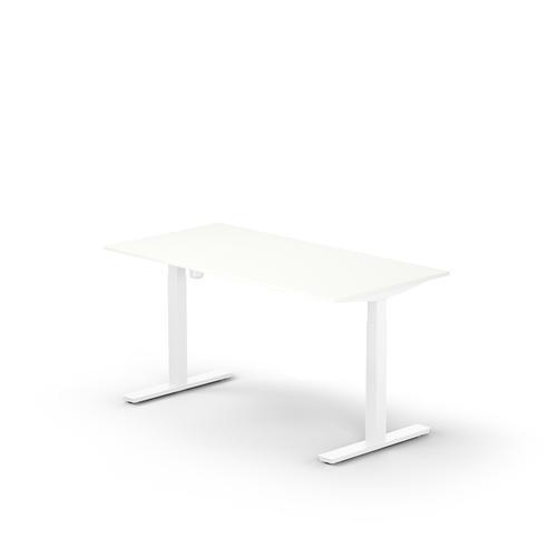Lutz rectangular desk UK  W. 1600 x D. 800 x Thk. 25 mm snow white