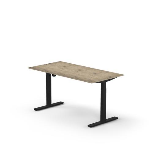 Lutz rectangular desk UK  W. 1600 x D. 800 x Thk. 25 mm Brunzwick oak