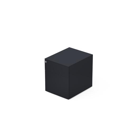 2 drawers pedestal W. 420 mm graphite grey