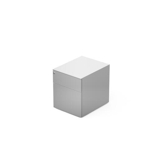 2 drawers pedestal W. 420 mm White