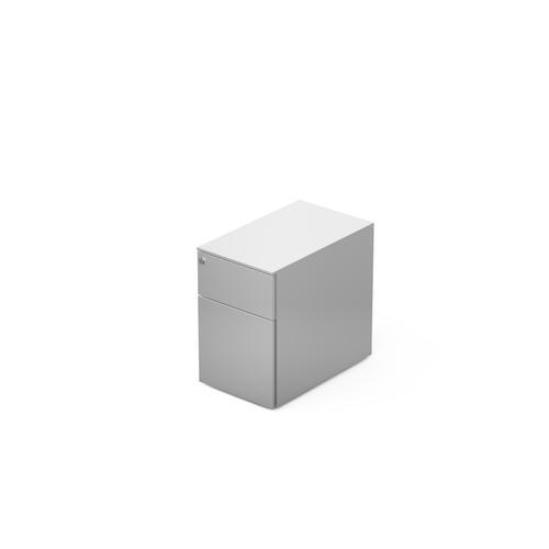 2 drawers pedestal W. 320 mm white
