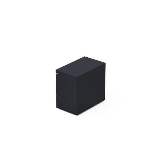 3 drawers pedestal W. 320 mm graphite grey