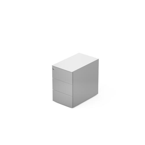 3 drawers pedestal W. 320 mm white