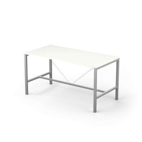 Arial 6/8P snow white melamine rectangular table