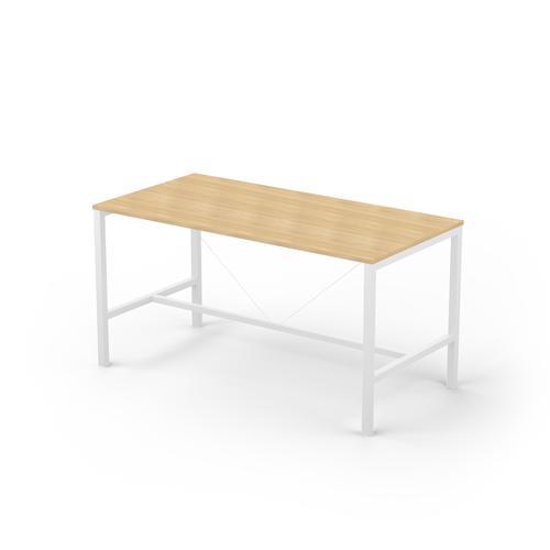 Arial 6/8P light oak melamine rectangular table