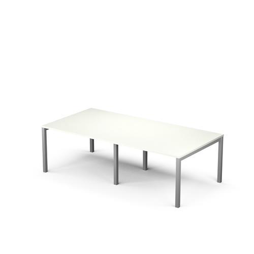 Arial 8/10P snow white melamine rectangular table
