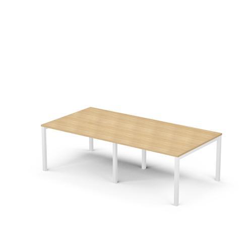 Arial 8/10P light oak melamine rectangular table