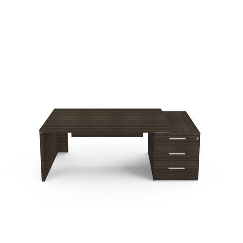 Kara rectangular desk W. 2100 x D. 900 mm coffee oak