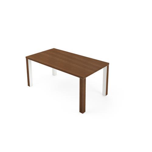 Kara rectangular desk W. 1700 x D. 900 mm amber walnut