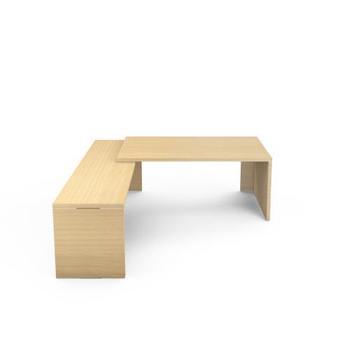 Kara desk W. 2400 x D. 2000 light oak
