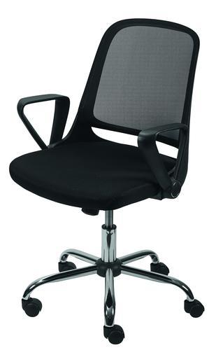 Single Seat With Swivel Armrests Black