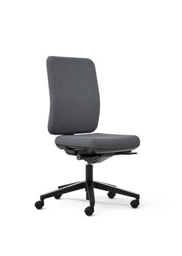 Oscar Grey Seat With Fabric Backrest