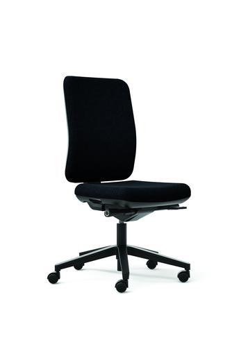Oscar Black Seat With Fabric Backrest