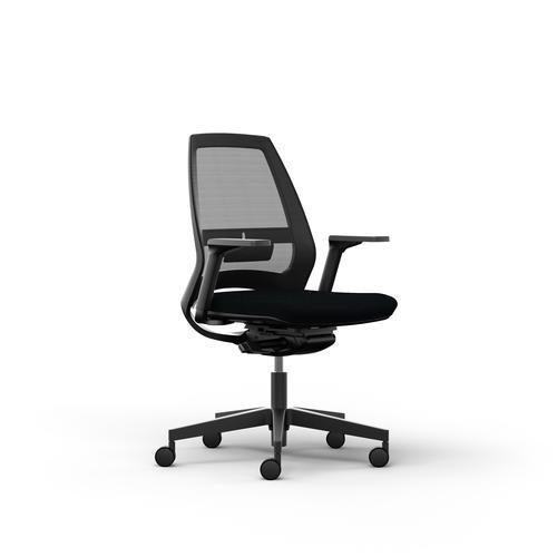 Eliott black mesh back chair