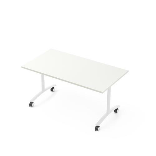 Flip-top table W. 1400 x D. 800 white