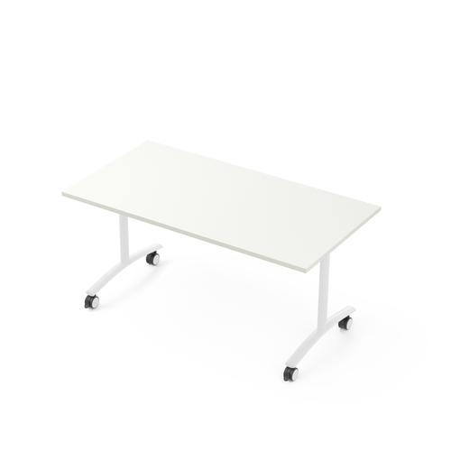 Flip-top table W. 1600 x D. 800 white