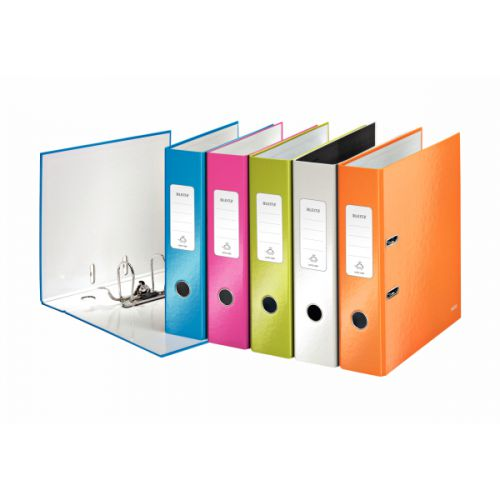 Leitz Wow 180 Lever Arch File 80mm A4 Assorted (Pack of 10) 10051099
