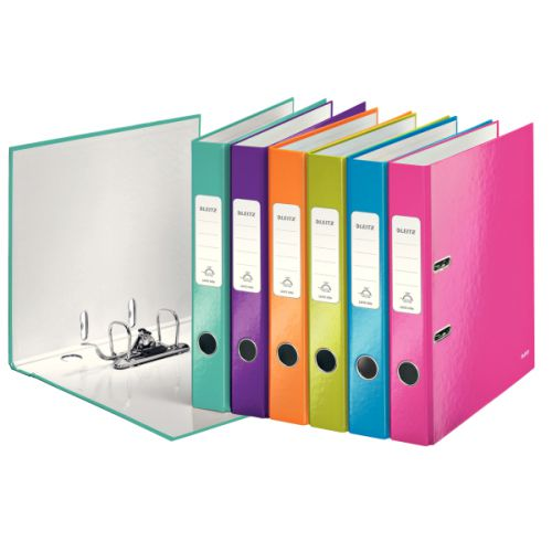 Leitz Wow Leverarch File 180 A4 50mm Assorted Pack 10