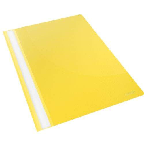 Esselte Vivida Report Flat Bar File Polypropylene Clear Front A4 Yellow Ref 28318 [Pack 25]