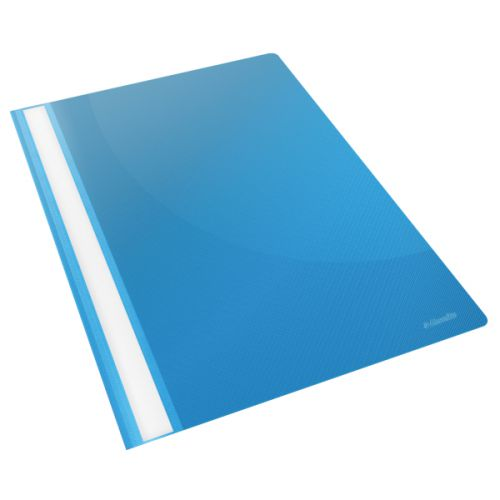 Esselte Vivida Report Flat Bar File Polypropylene Clear Front A4 Blue Ref 28322 [Pack 25]