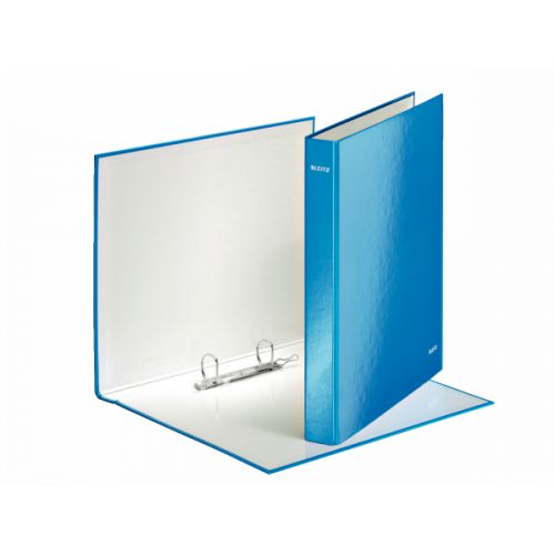 Leitz Wow 2 D-Ring Binder 25mm A4 Plus Blue (Pack of 10) 42410036