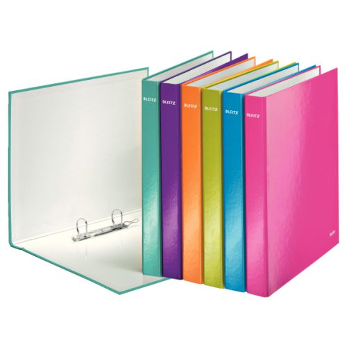 Leitz WOW Ringbinder A4 2DR 25mm Assorted 10pk 42410099