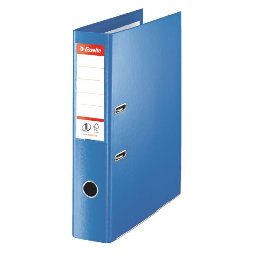 Esselte No.1 VIVIDA Lever Arch File Polypropylene Foolscap 75mm Spine Width Blue (Pack 10)