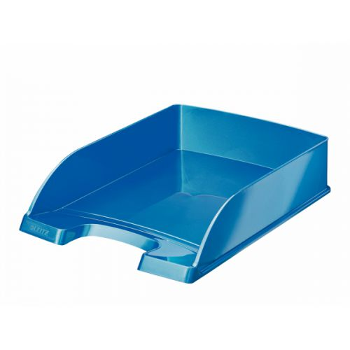 Leitz WOW Letter Tray Blue Metallic A4