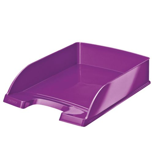 Leitz WOW Letter Tray Purple Metallic A4