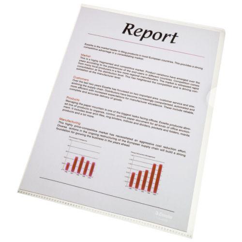 Value Esselte A4 Economy Folder Clear A4 80mic 54810 (PK100)