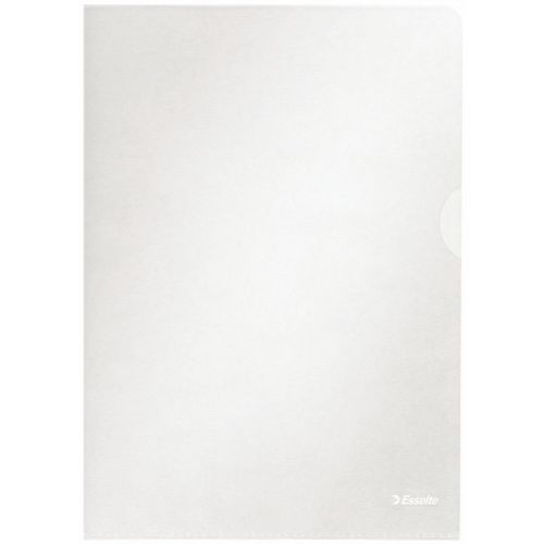 Esselte Folders A4 105 micron Clear 54832 (PK100)